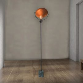 Marble Copper Floor Lamp