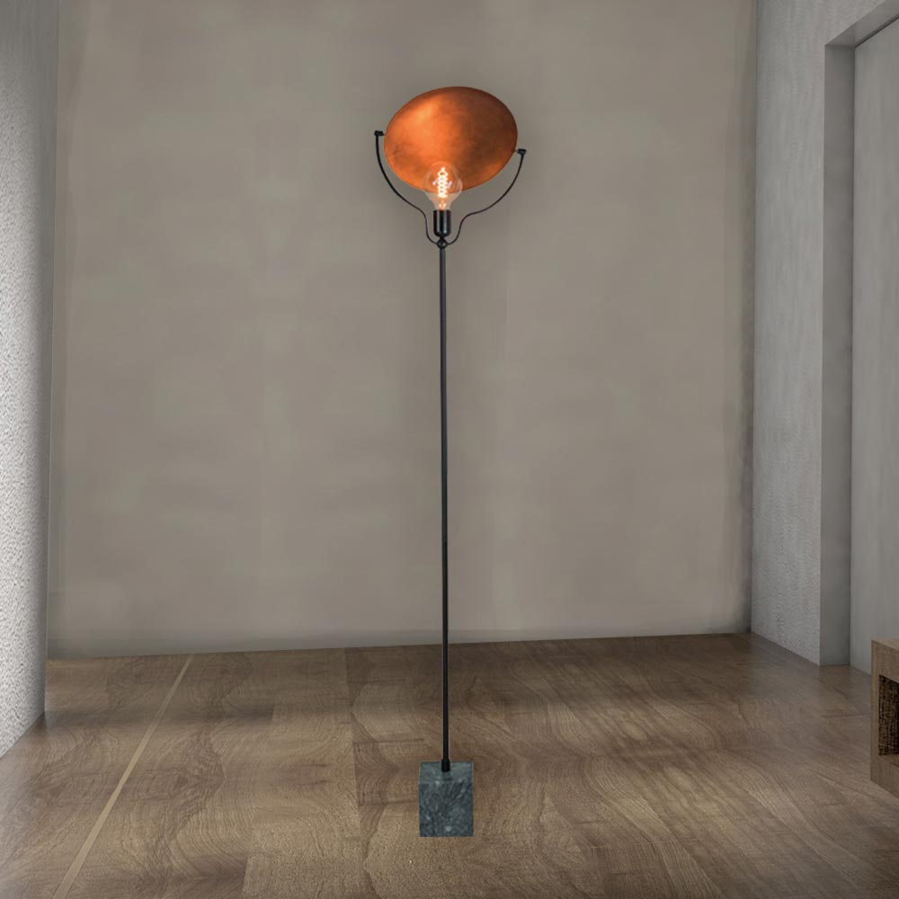 Marble Copper Floor Lamp Cl 37184 E2 Contract Lighting Uk