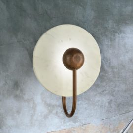 Marble Disc Wall Light