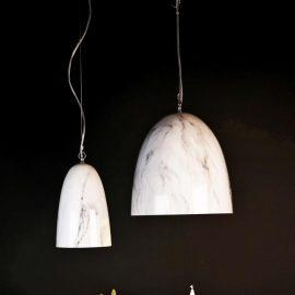 White Marble Pendant Light