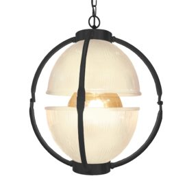Matt Black Glass Orb Pendant Light,Frosted Glass Orb Pendant Light