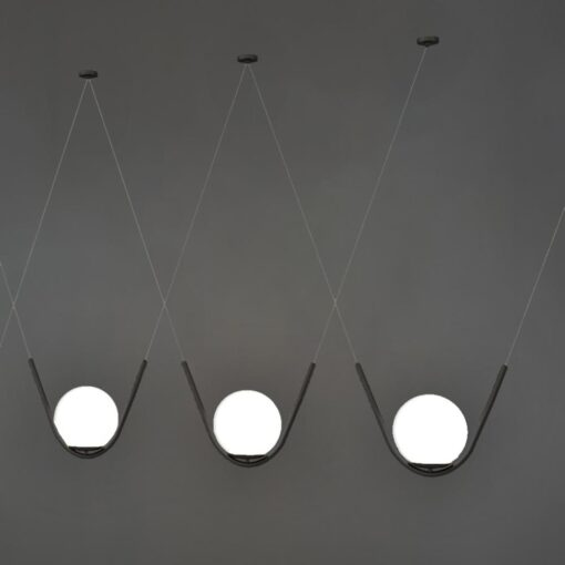 Matt Black Globe Pendant Feature Lights