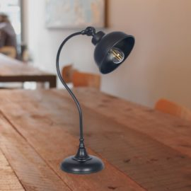 Matt Black Task Table Lamp