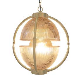 Matt Gold Glass Orb Pendant Light,Prismatic Glass Orb Pendant Light