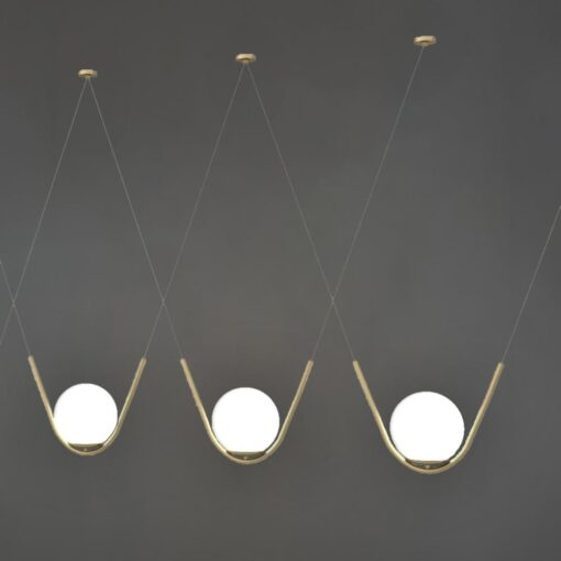 Matt Gold Globe Pendant Feature Lights