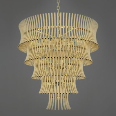 Matt Gold Modern Tiered Chandelier