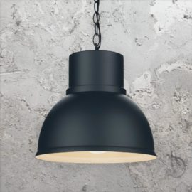 Black Matte Metal Factory Lamp
