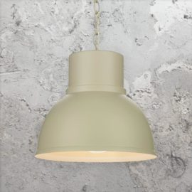 Cream Matte Metal Factory Lamp
