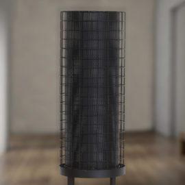 Mesh Cylinder Floor Lamp