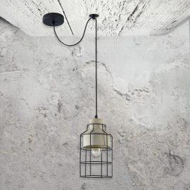 Metal Cage Concrete Pendant Light