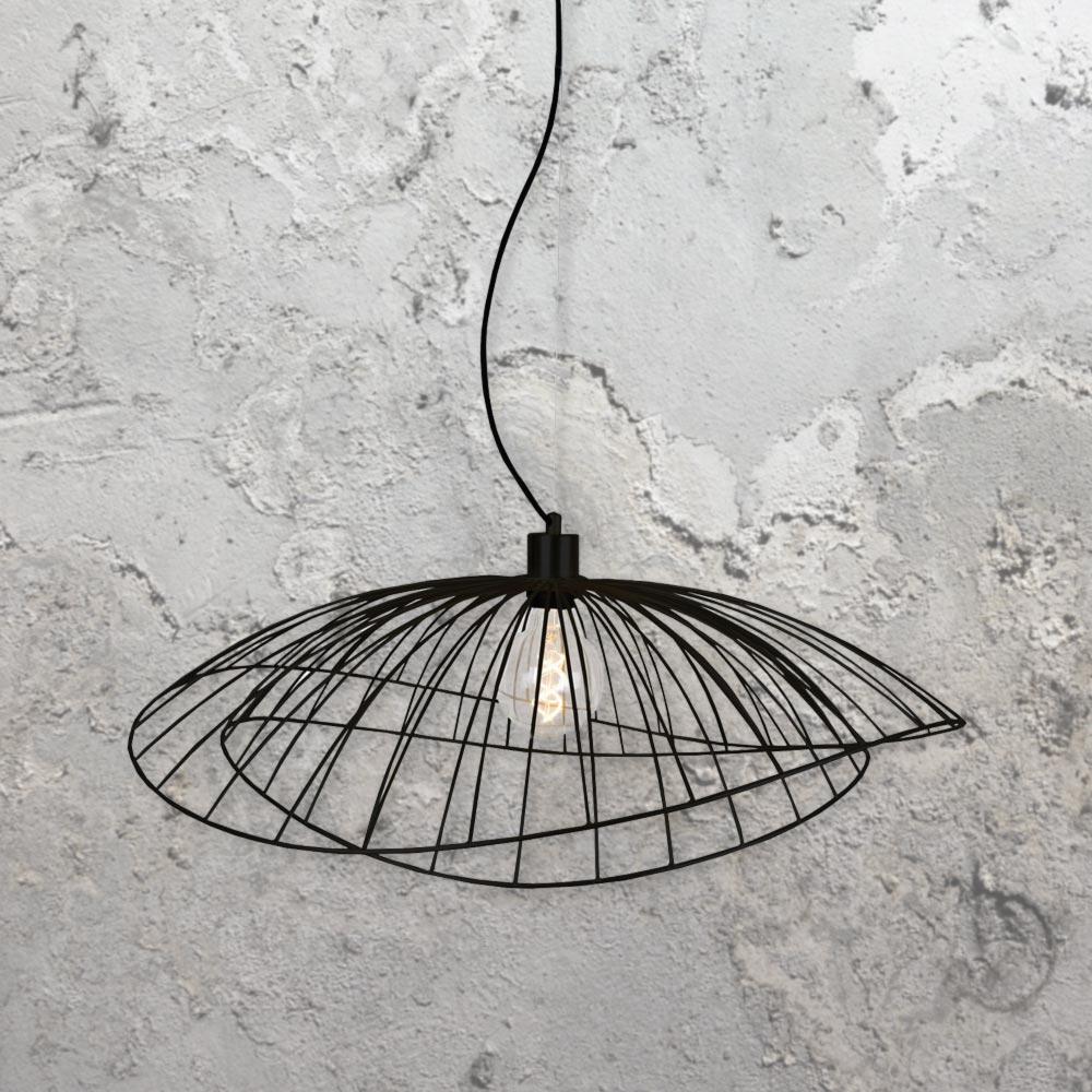black metal frame pendant light cl 34598 e2 contract lighting uk