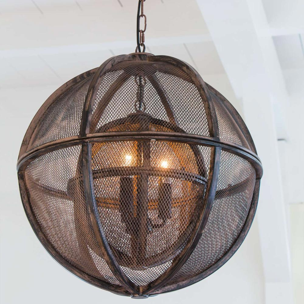 Metal orb pendant light cl 33793 products e2 contract for Metal hanging lights