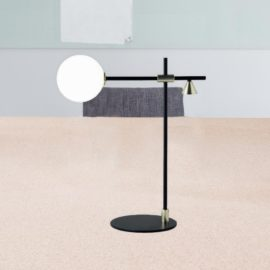 Minimal Opal Table Lamp