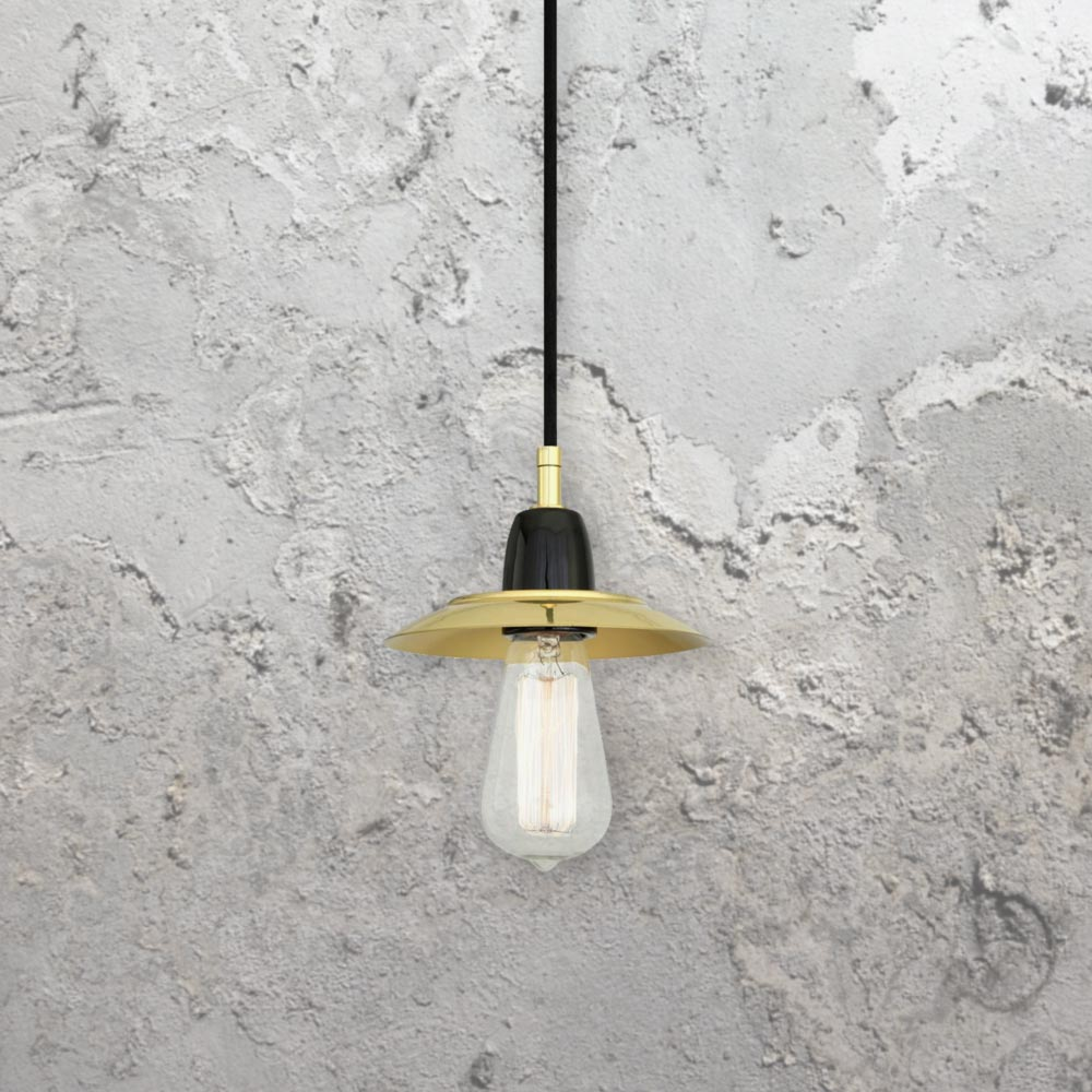 minimal polished brass pendant light cl35114 e2 contract lighting uk