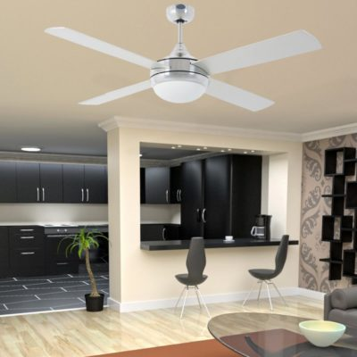 Modern Aluminium Ceiling Fan With Light