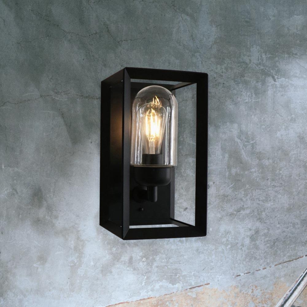 Outdoor Wall Lights Uk: Modern Black Outdoor Wall Light CL-36280