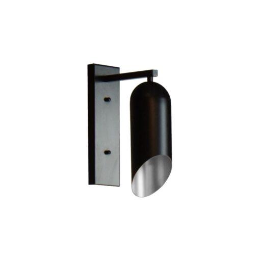 Modern Black & Silver Inner Wall Light