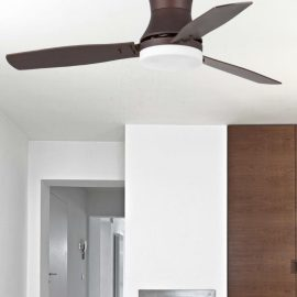 Modern Brown Ceiling Fan With Light