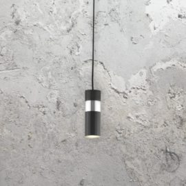 Black LED Modern Chrome Bar Pendant Light