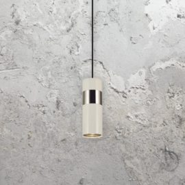 White LED Modern Chrome Bar Pendant Light