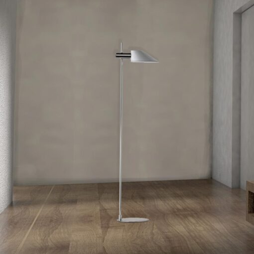 Tall Modern Chrome Floor Lamp