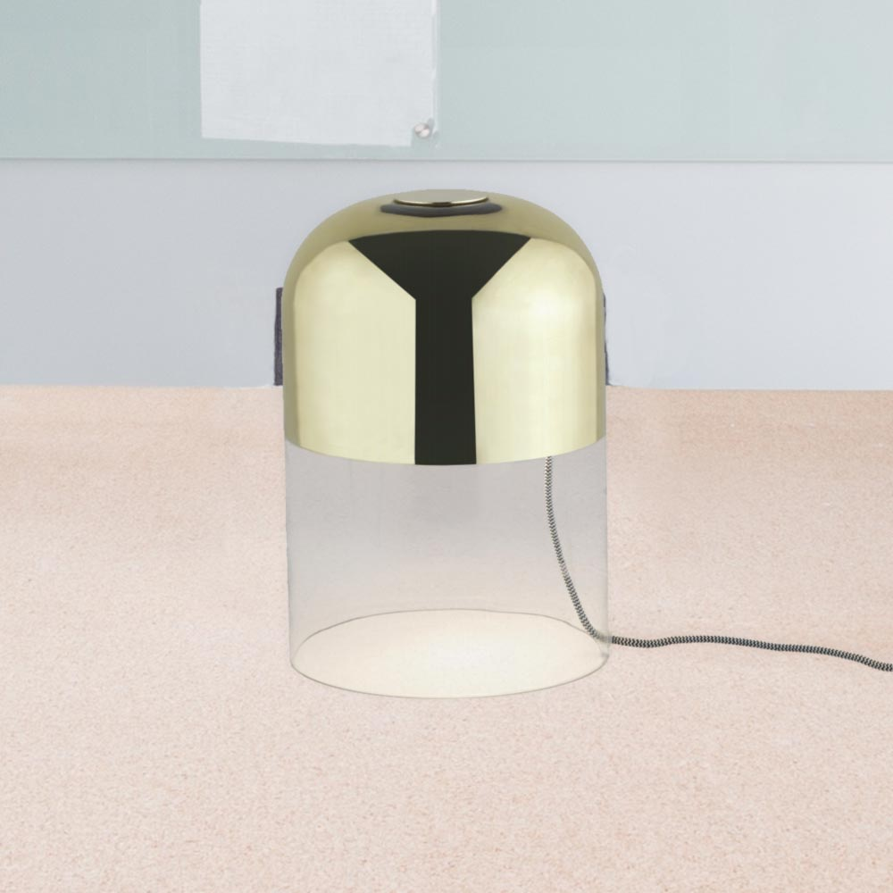 Modern clear glass table lamp cl 34709 e2 contract lighting uk modern clear glass table lamp aloadofball Choice Image