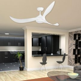 Modern Curved Blade Ceiling Fan