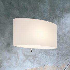 Modern Curved Opal Glass Wall Light