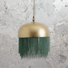 Modern Gold Fringed Pendant Light