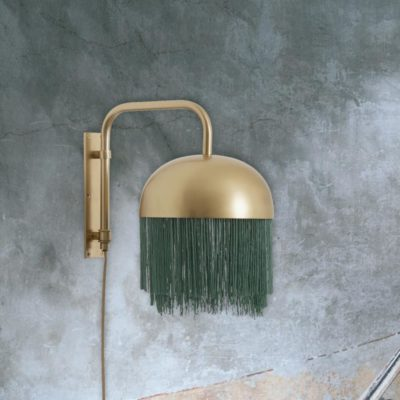 Modern Gold Fringed Wall Light