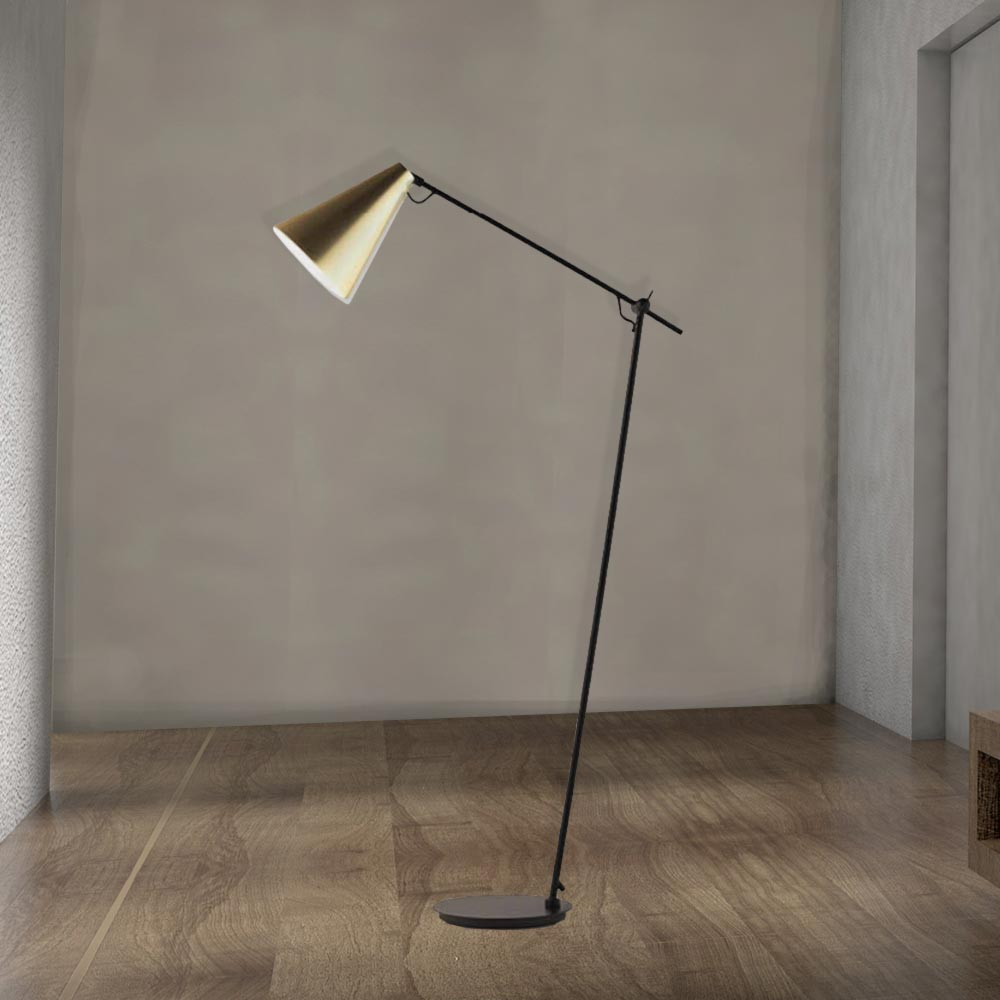 Modern Matt Black Floor Lamp CL-33981 | E2 Contract Lighting | UK