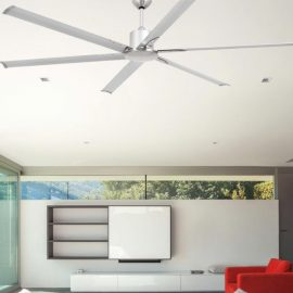 Modern Matt Nickel Ceiling Fan