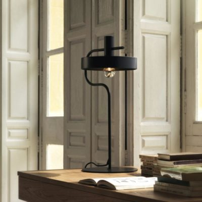 Black Mid Century Modern Table Lamp