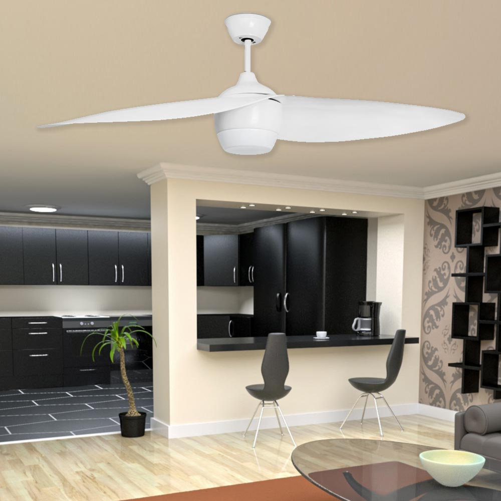 Modern white ceiling fan with light cl 34886 e2 contract lighting uk home ceiling fans aloadofball Image collections