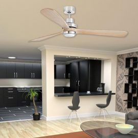 Modern Wood Ceiling Fan With Light