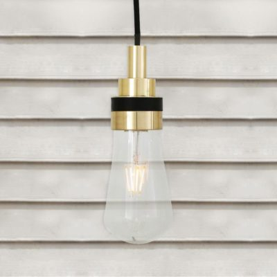 Natural Brass Minimal Outdoor Pendant Light
