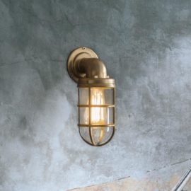 Nautical Brass Outdoor Wall Light