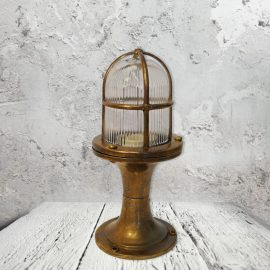 Nautical Brass Pedestal Light,Outdoor Brass Pedestal Light,Small Exterior Nautical Brass Pedestal Light