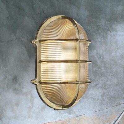 Nautical Oval Outdoor Brass Bulkhead