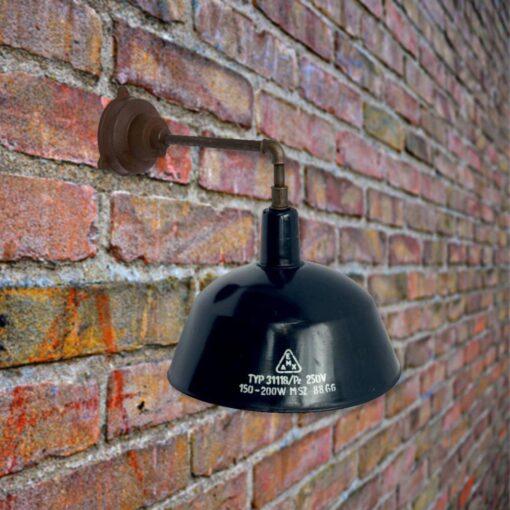 Navy Enamel Wall Light