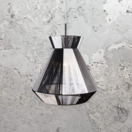 Black and White Nylon Cable Pendant Light
