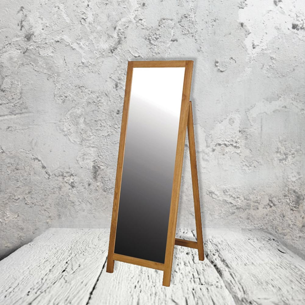 Oak Free Standing Mirror CL-33645 | Mirrors | E2 Contract Lighting | UK