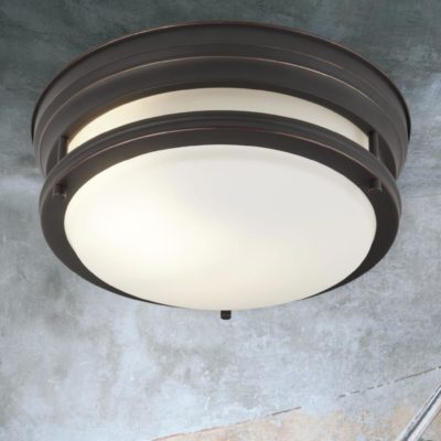 Opal Glass Brown Flush Light