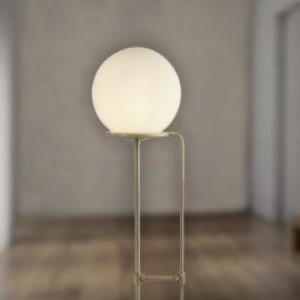 Opal Glass Globe Floor Lamp