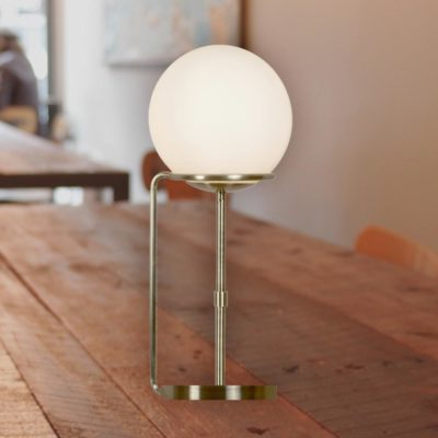 Opal Glass Globe Table Lamp