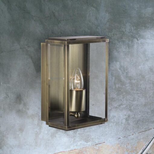 Antique Brass Outdoor Candle Wall Lantern