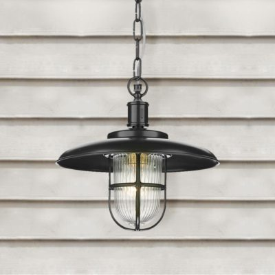 Black Outdoor Fisherman Pendant Light