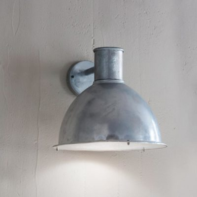 Outdoor Industrial Dome Wall Light