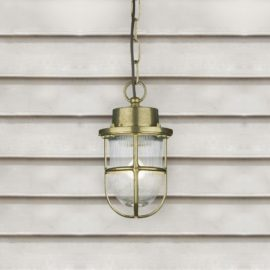 Outdoor Nautical Brass Pendant Light