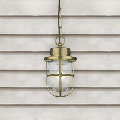 Outdoor Nautical Brass Pendant Light